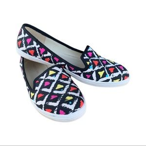 Aztec Print Flat Shoes by Material Girl US 6.5